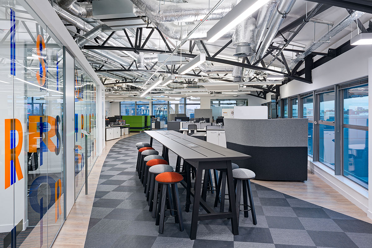 Itrs affinity flooring for It company interior